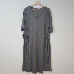 Zara Trafulac Micro Houndstooth Bow Dress Large